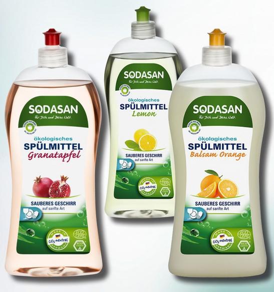 новинки SODASAN для мытья посуды уже в продаже