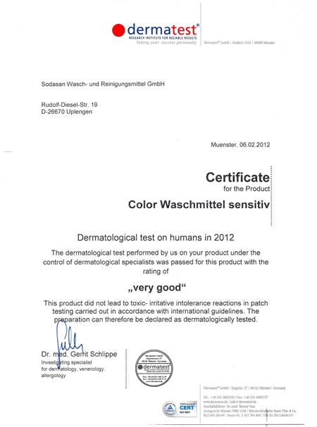 dermatest certificate