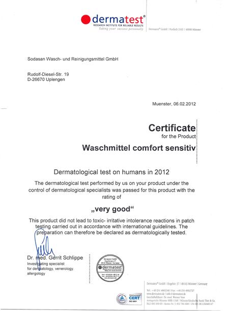 Сертификат Экоцерт